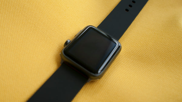 apple watch with vario silicone watch strap