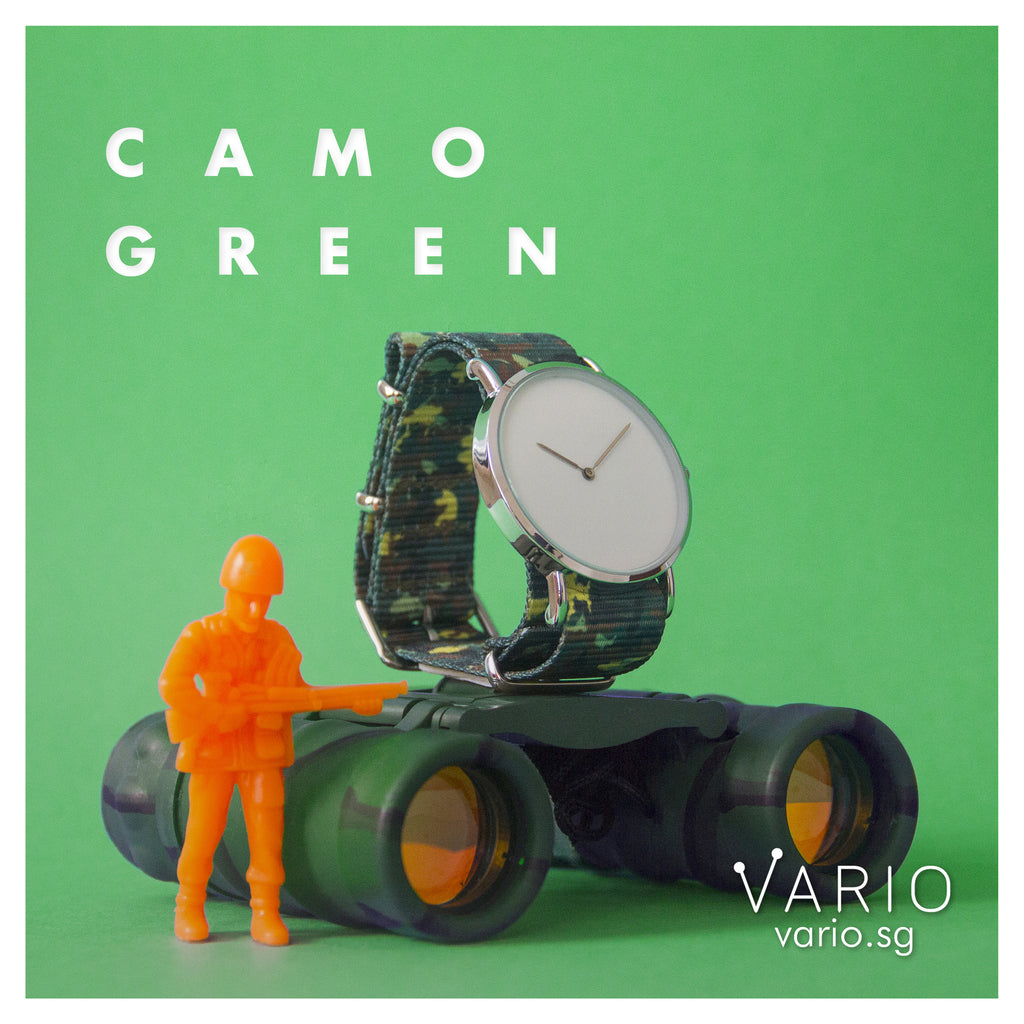 vario camo green nato strap with toy soldier