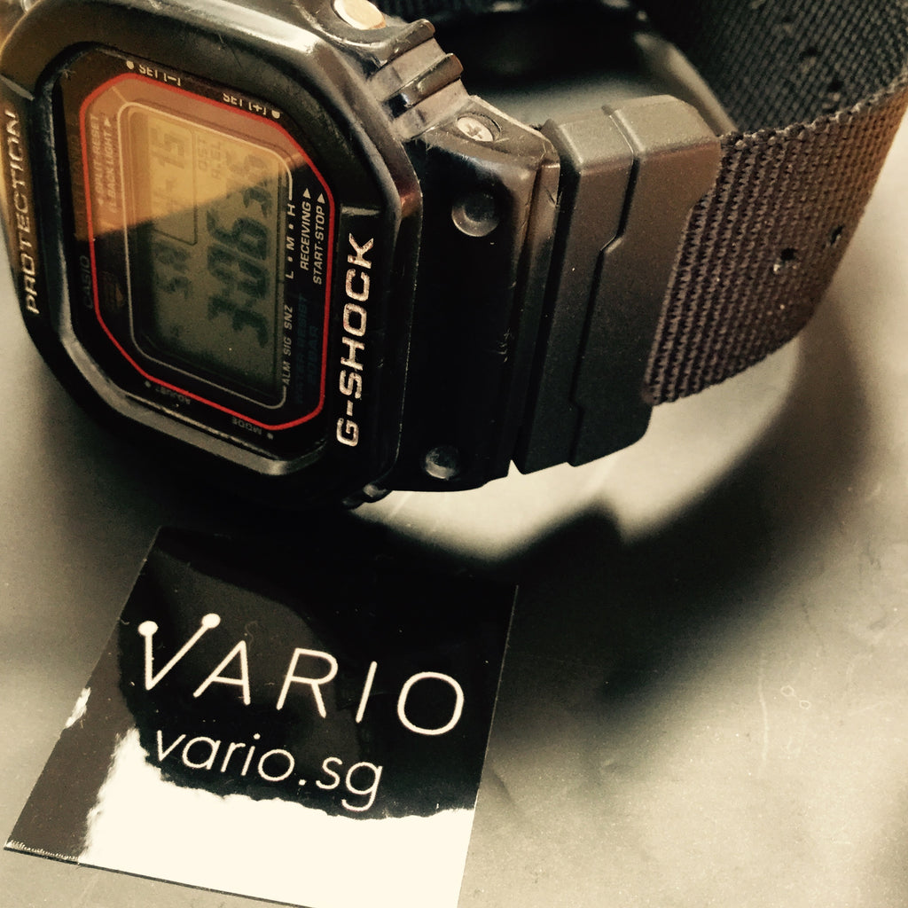 gshock dw5600 on vario  nato kit