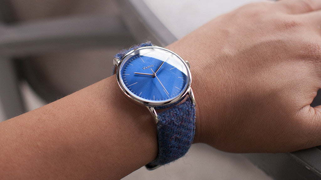 vario eclipse watch harris tweed strap