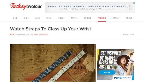 factory twenty four vario graphic nato strap review