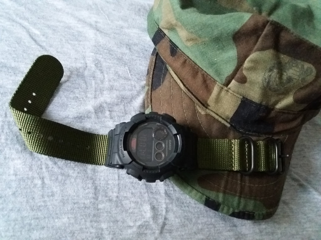 gshock with vario nylon strap
