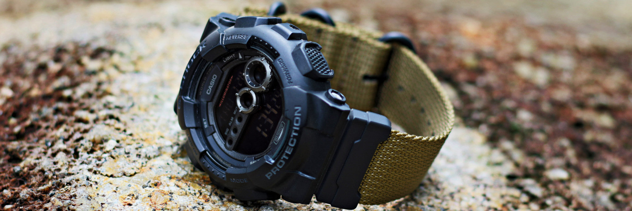 34606cd07a2 Militarise your G-Shock with our super heavy duty or shiny seat belt NATO  straps coupled with Casio s G-Shock NATO adapter