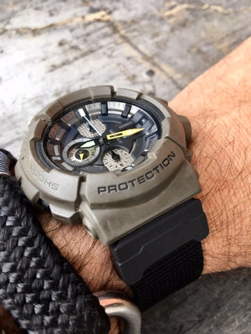 casio gshock gac100 with vario watch strap