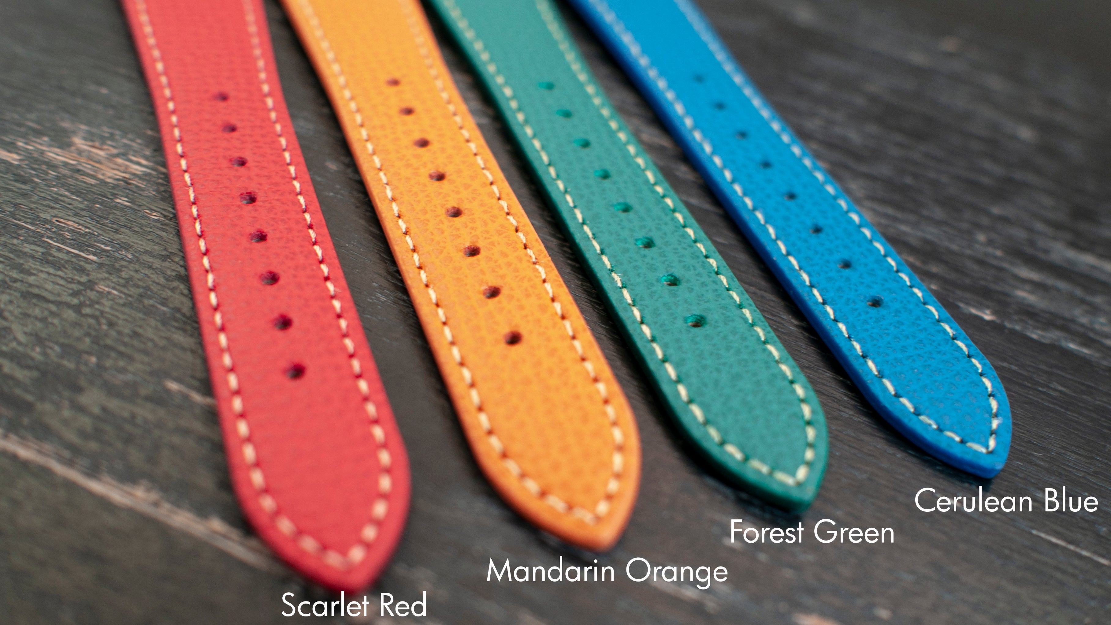 vario italian leather watch strap colours