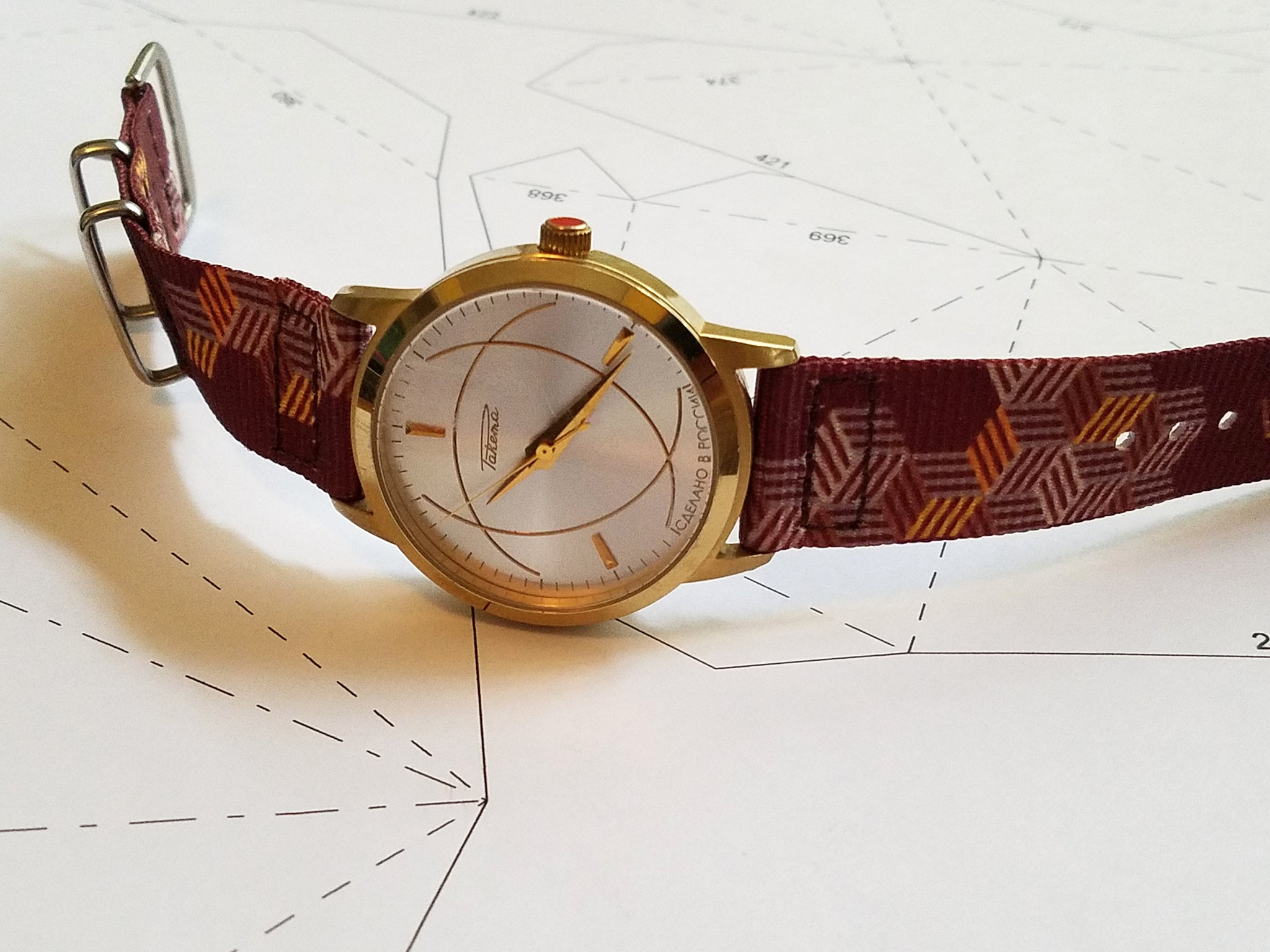 raketa watch on vario graphic nato strap