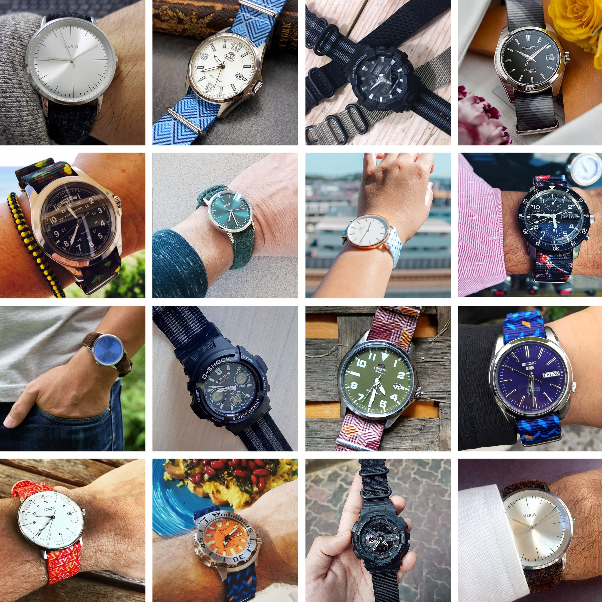 mixed vario customers watch and strap photos