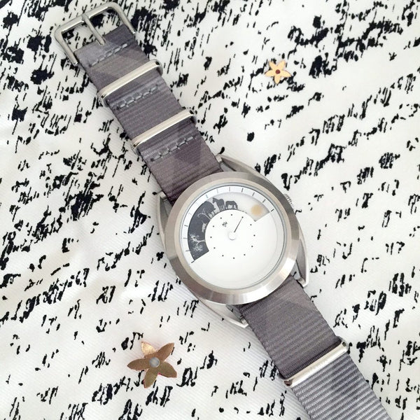 mono plaid vario graphic nato strap
