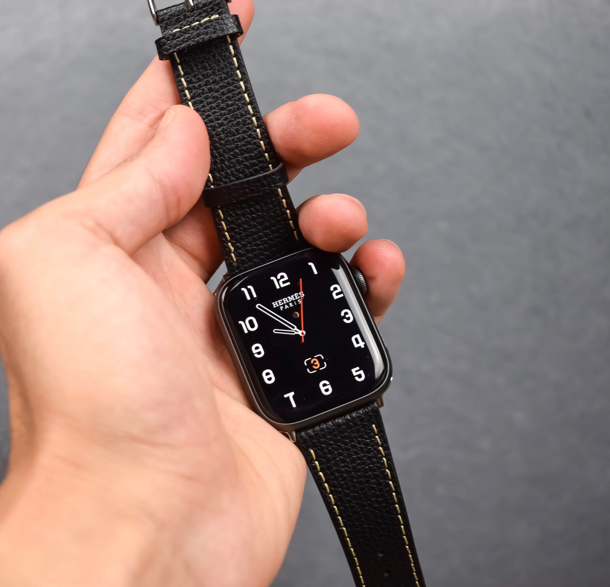 vario leather watch strap for apple watch