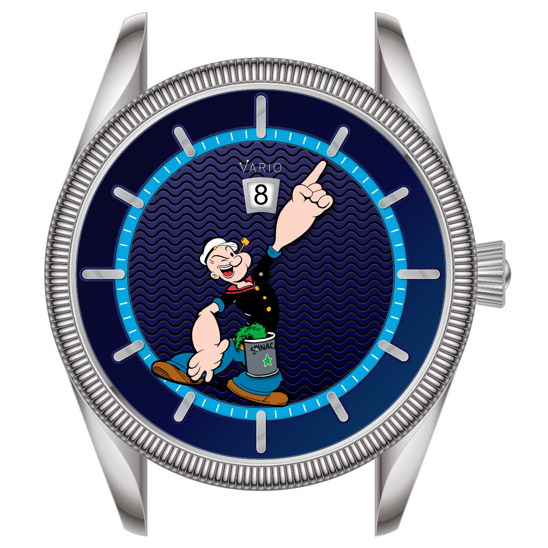 vario popeye nautical dress watch