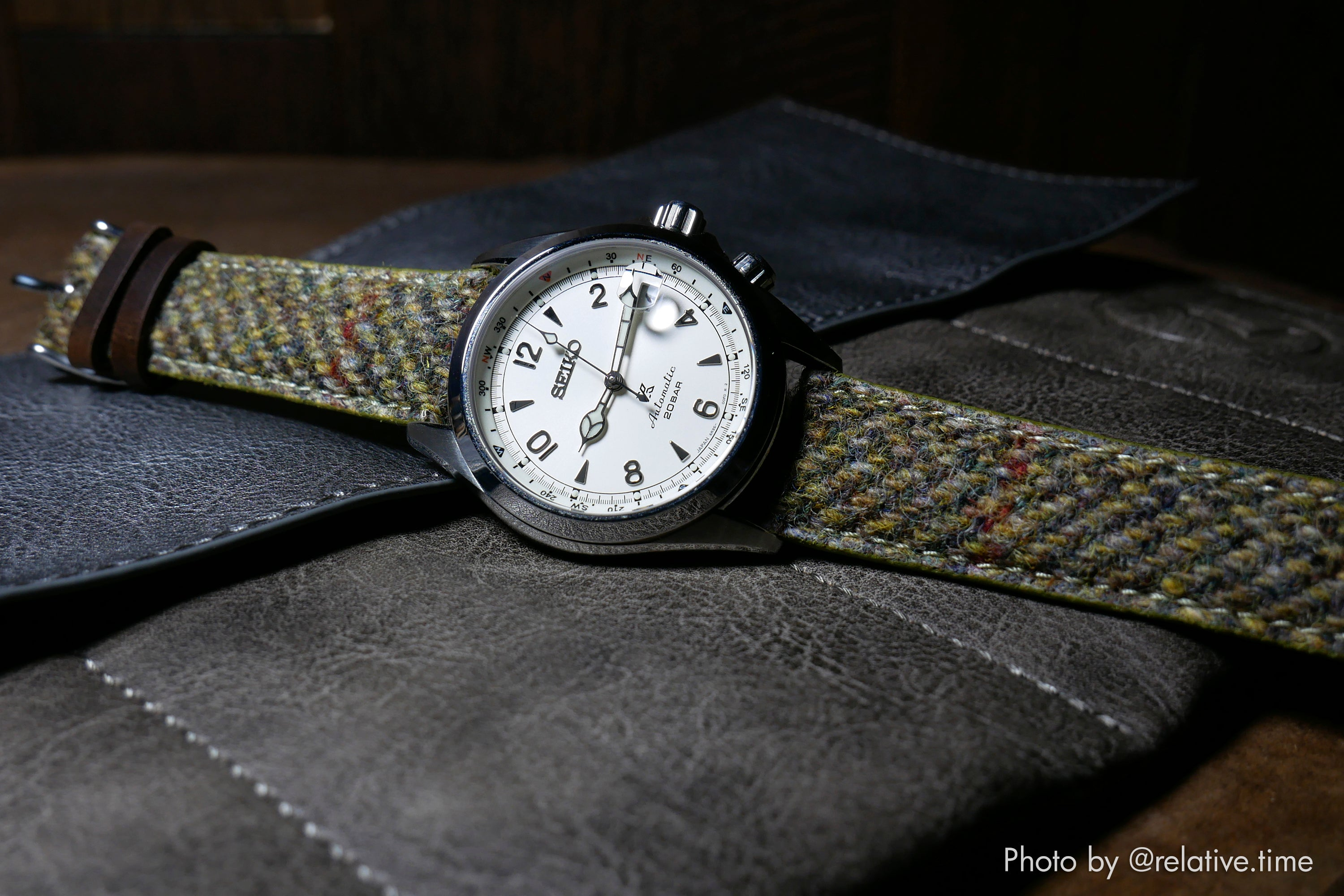 vario harris tweed uhrarmband