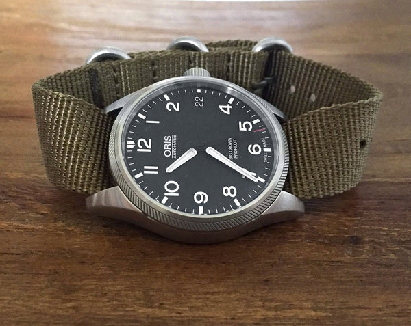 oris big crown with vario ballistic nylon watch strap