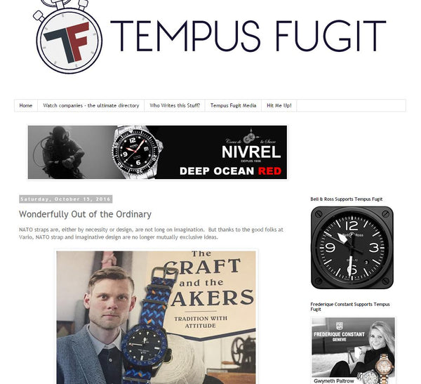 tempus fugit vario graphic nato strap review