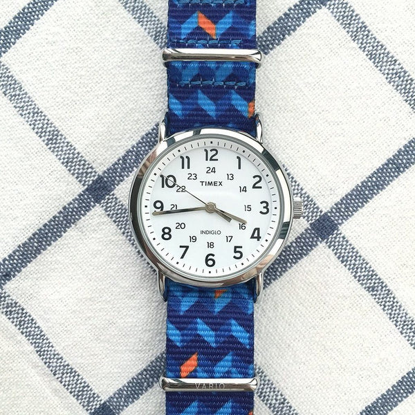 ocean chevron graphic nato strap by vario