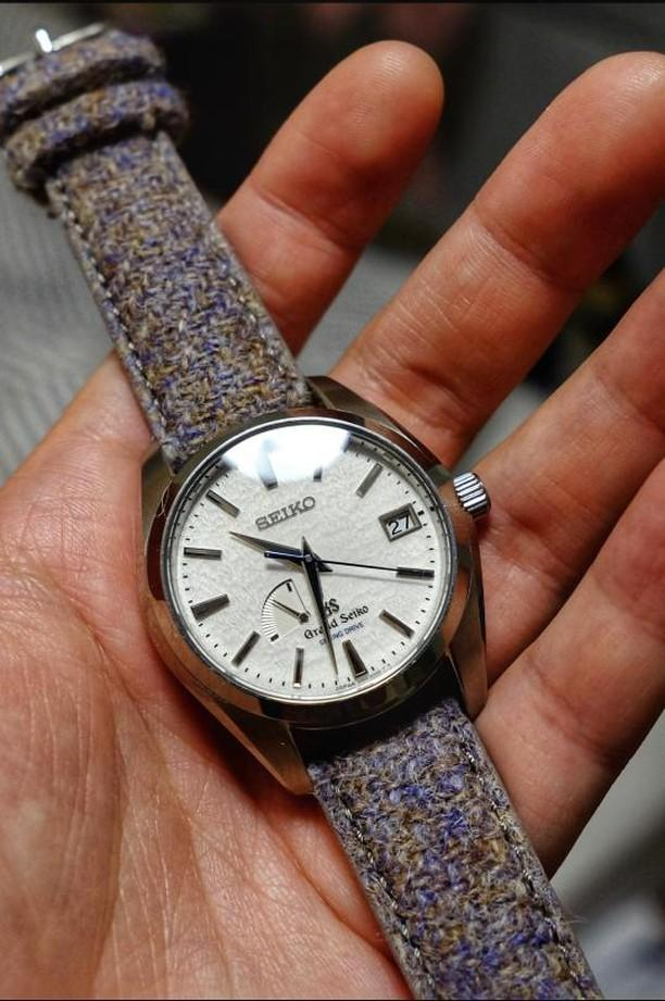 Grand Seiko on Vario Harris Tweed strap by #varioeveryday member @tokeitime