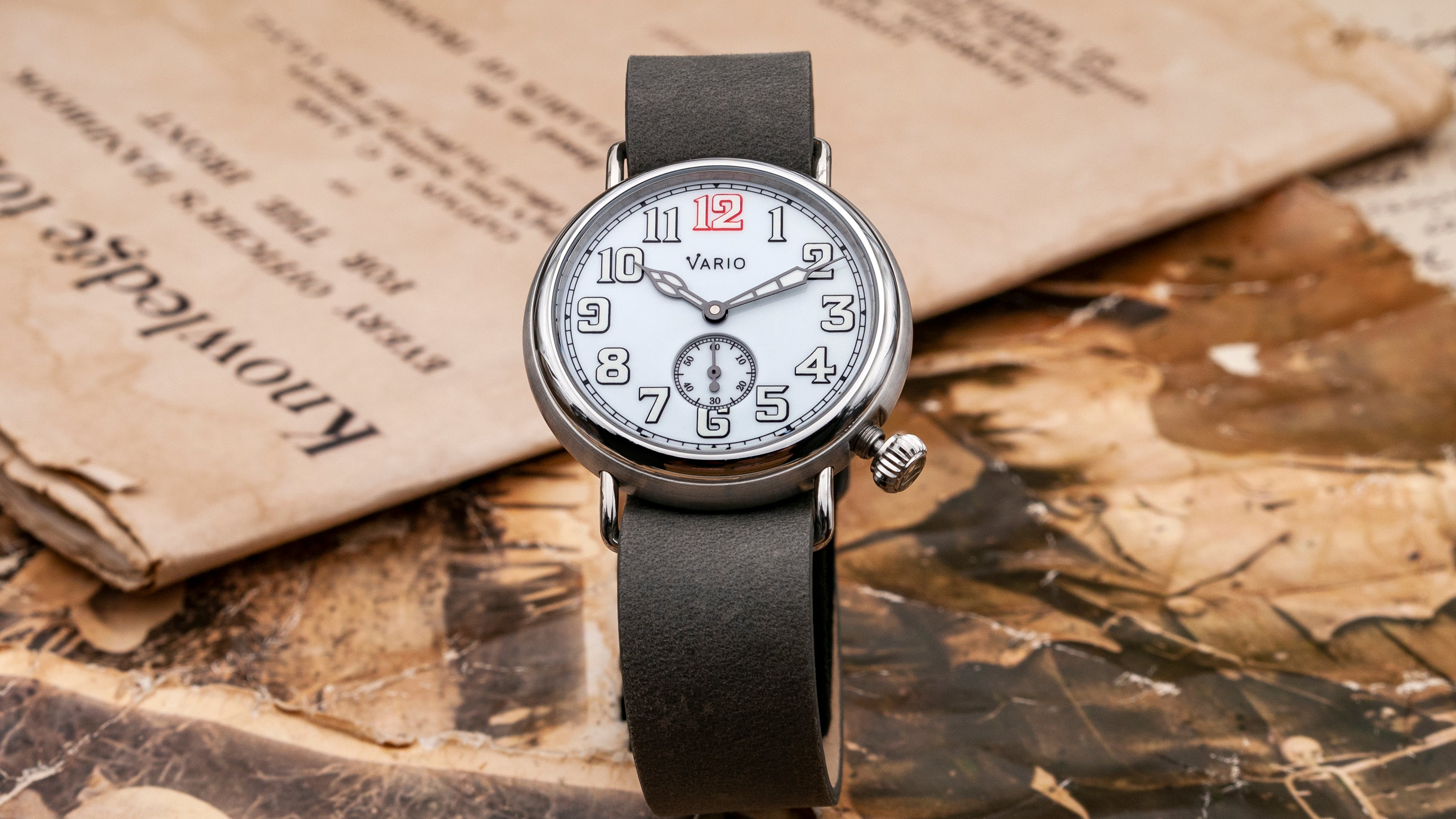 vario trench 1918 field watch vintage inspired watch