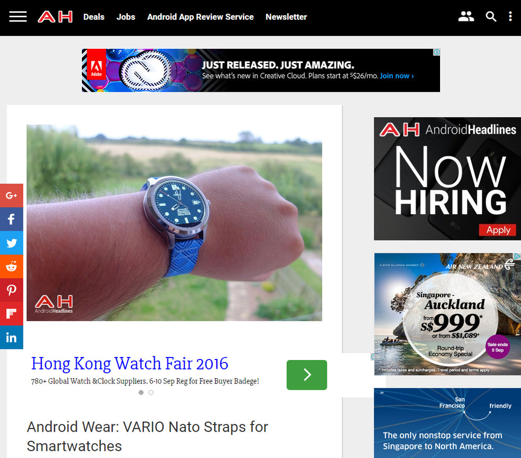 android headlines reviews vario nato strap