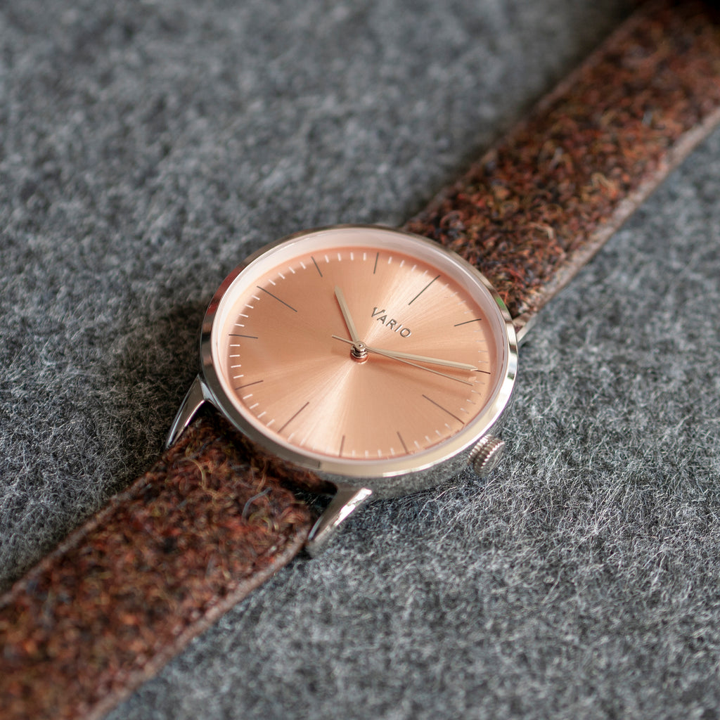 vario salmon dial dress watch