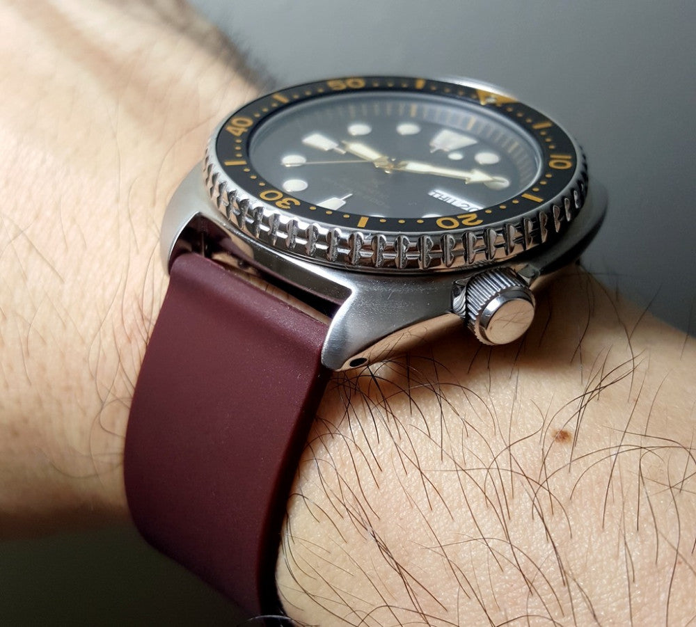 seiko watch with vario silicone watch strap