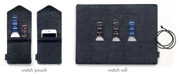 watch roll and pouch