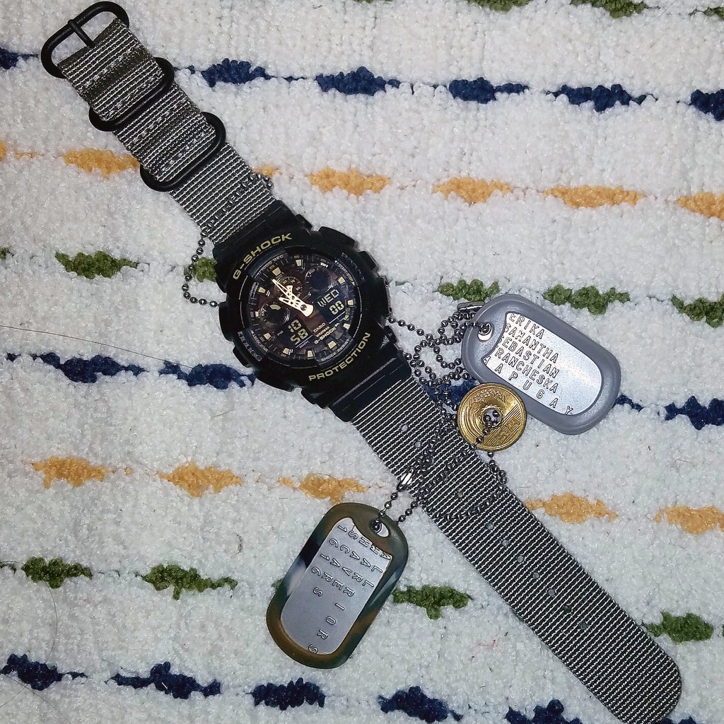casio gshock ga100 with vario nato strap kit