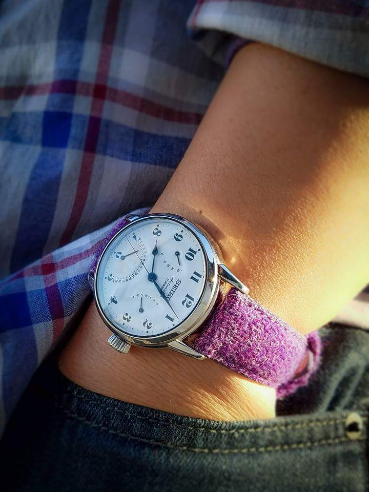 Seiko watch on Vario Harris Tweed strap by #varioeveryday member Wing