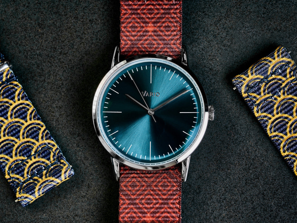 vario watch with vario graphic nato watch strap