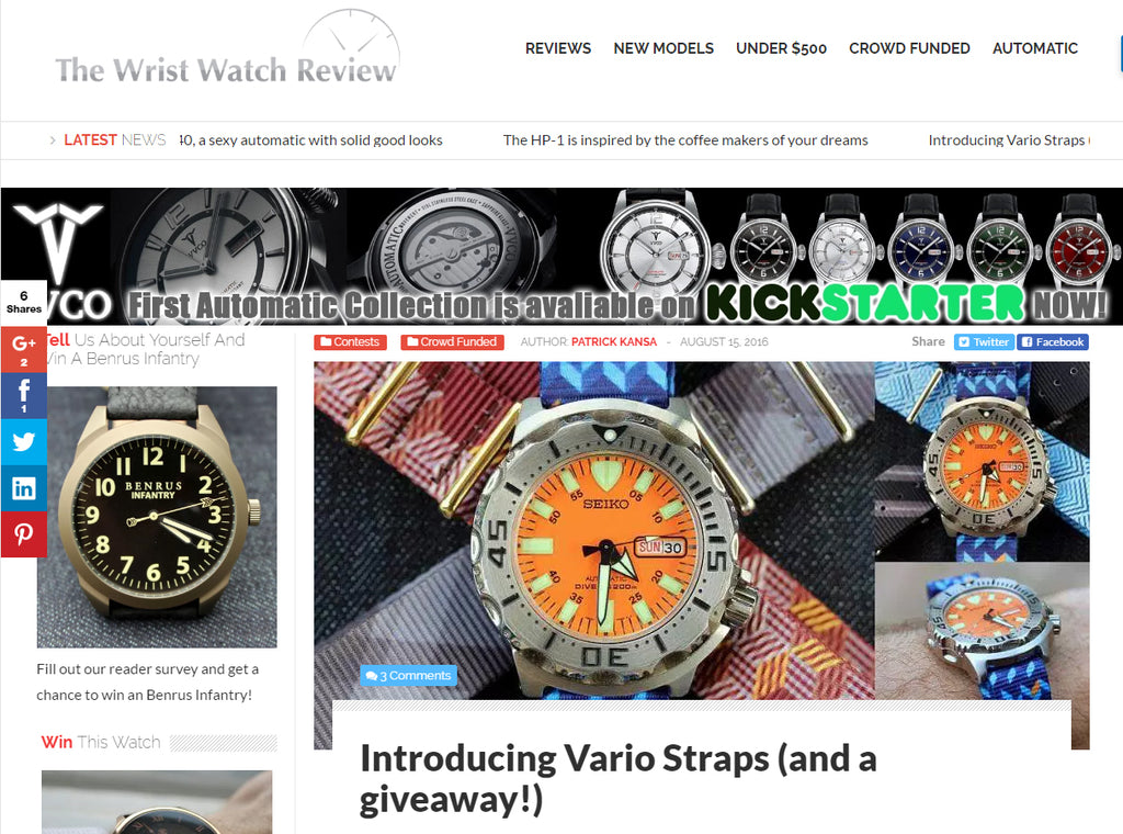 wrist watch review of vario nato watch strap