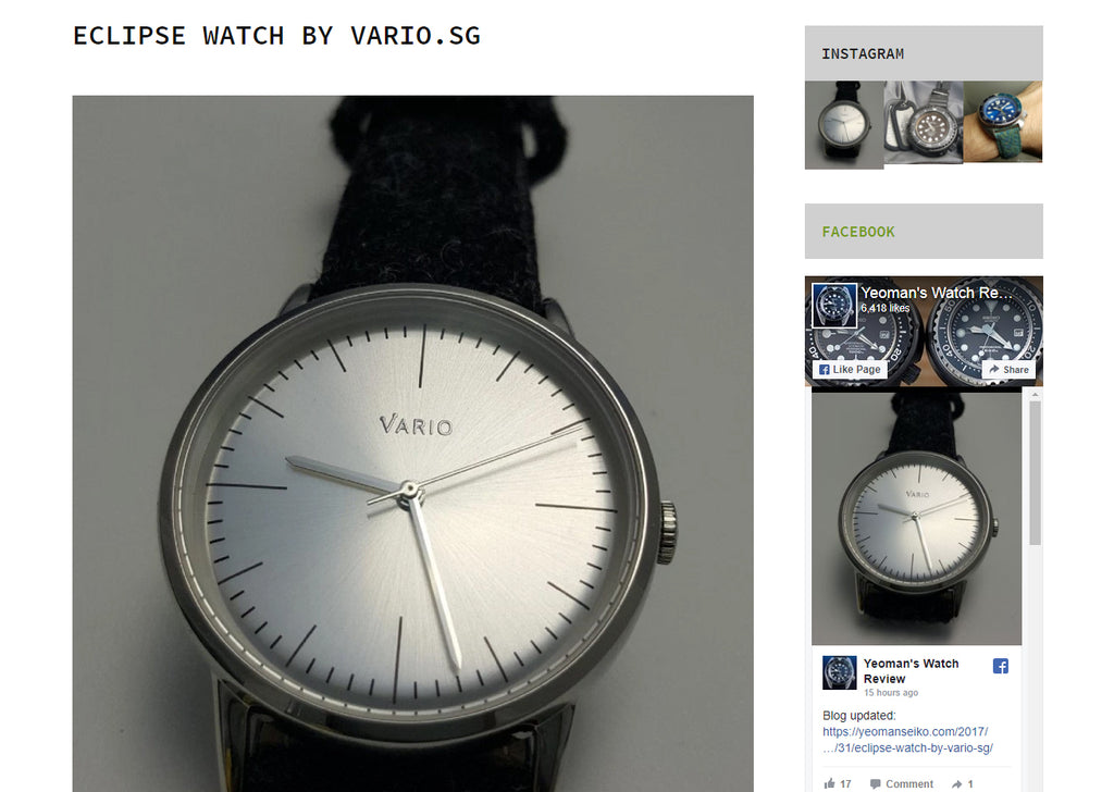 yeoman watch review vario eclipse dress watch