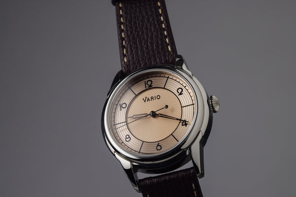 vario empire art deco sector dress watch