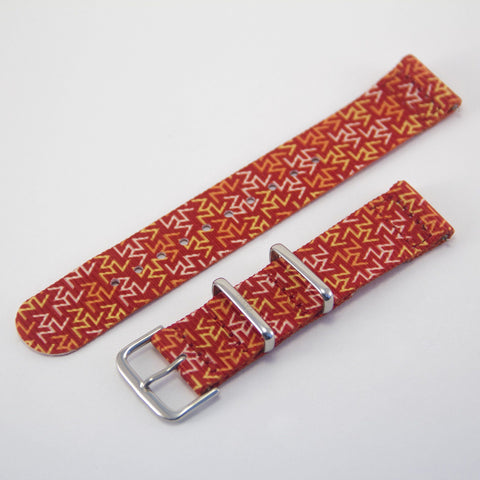 vario orange tangy 2 piece nato strap