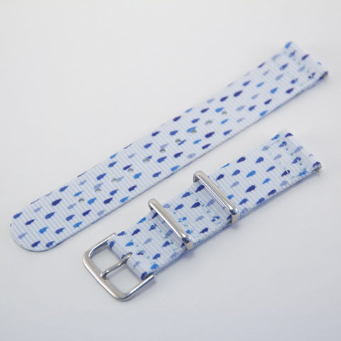 Raindrops 2 Piece Graphic Nato Watch Strap