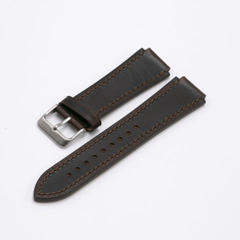 Oiled Leather Pecan Watch Strap for Casio AE1200WH World Time Watch