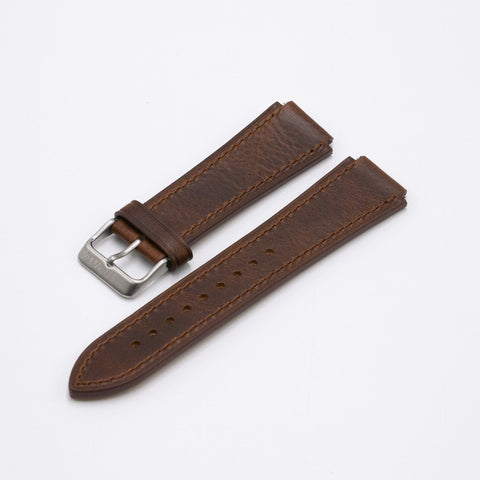 Oiled Leather Camel Brown Watch Strap for Casio AE1200WH World Time Watch