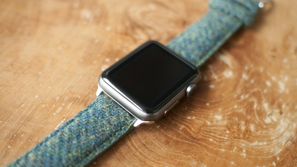 Harris Tweed Peacock Green Watch Strap for Apple Watch
