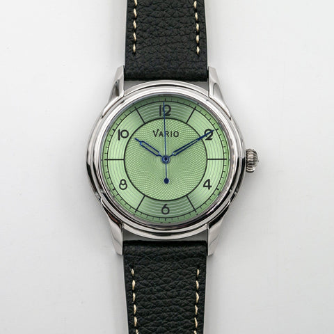 vario art deco sector dial dress watch