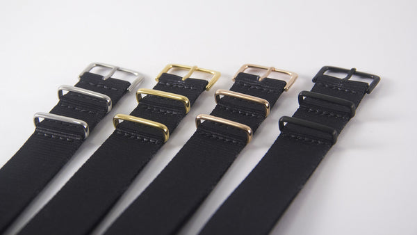 vario black razor printed nato strap with different metal buckles