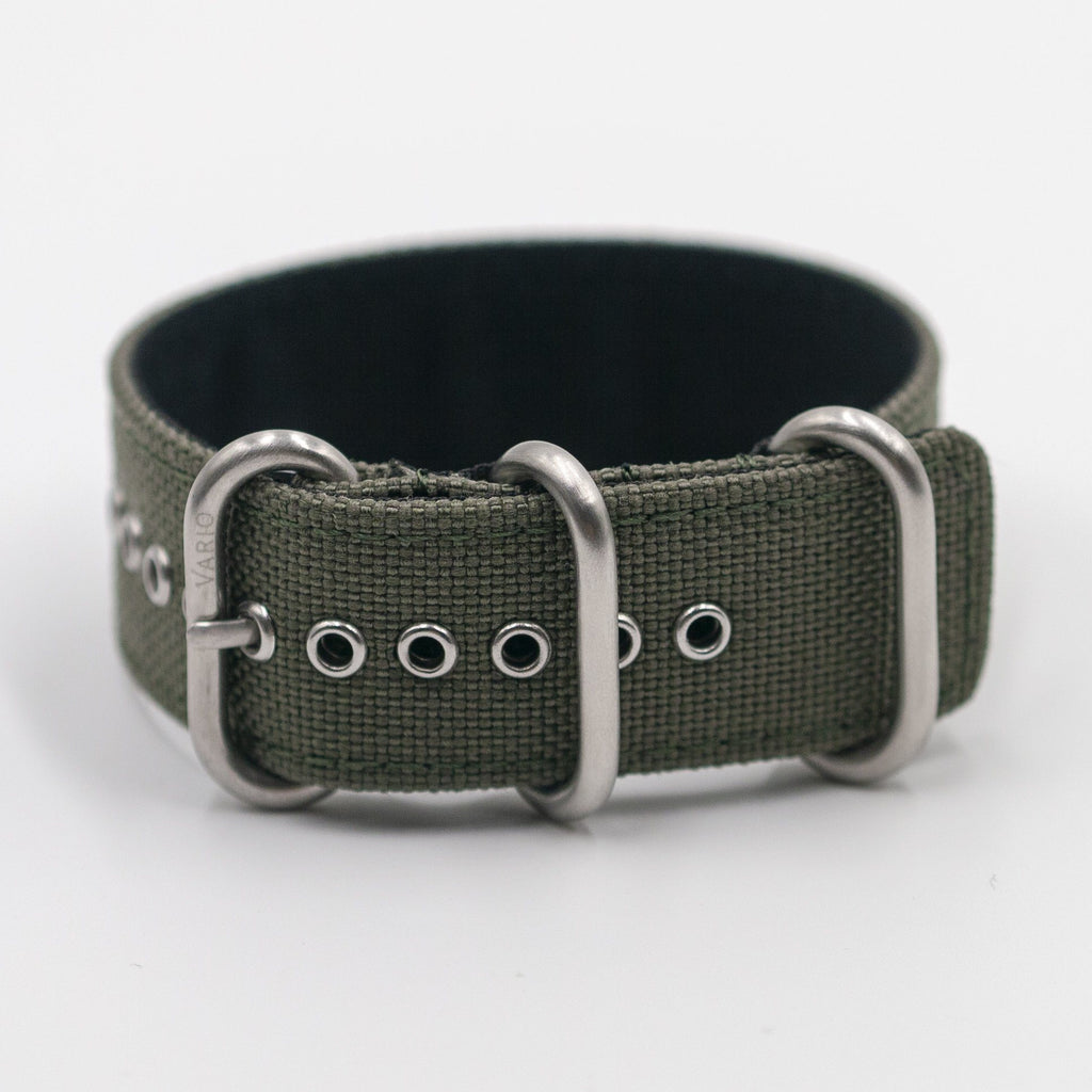 Cordura Vintage Army Green Zulu Watch Strap