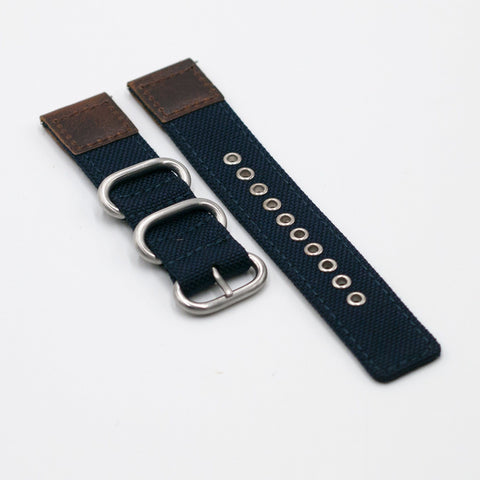 vario cordura oiled leather watch strap