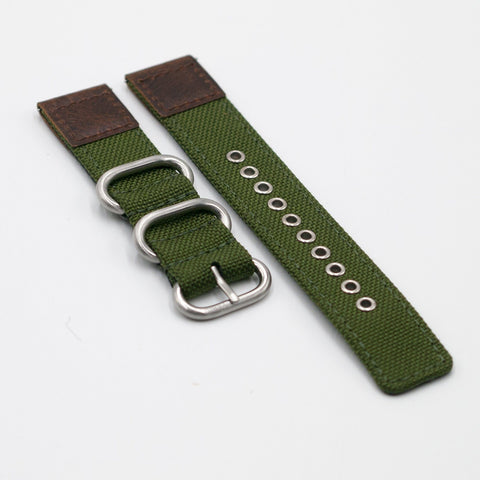 vario cordura oiled leather olive green