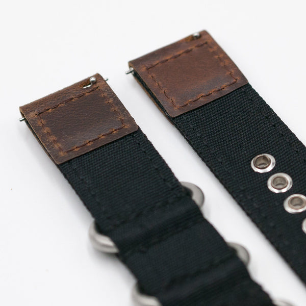 vario cordura watch strap backing quick release