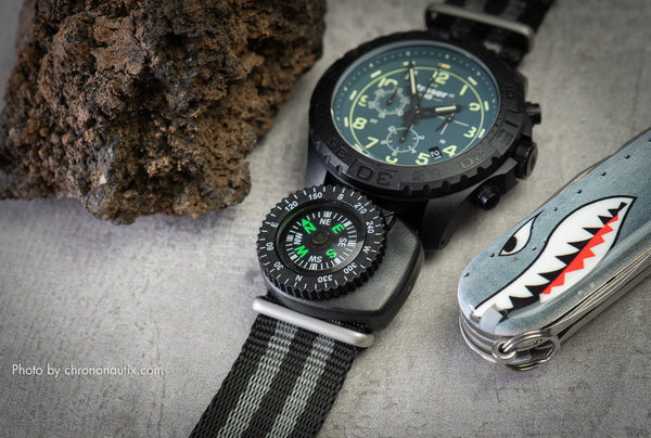 Clip-On Watch Strap Compass