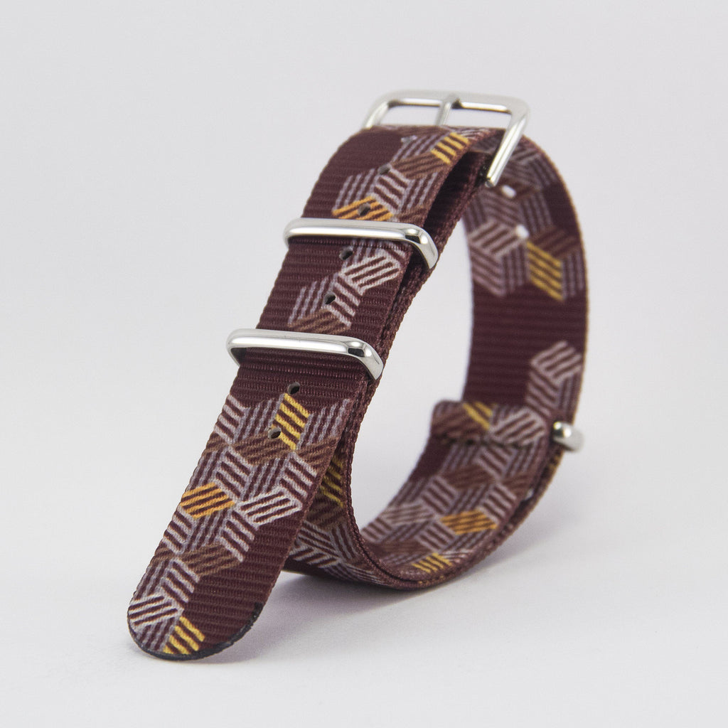 vario escher crates graphic nato strap vegan friendly