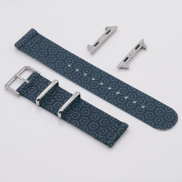 vario hex-g graphic nato watch strap for apple watch