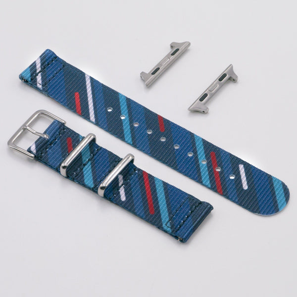 vario midnight comet graphic nato blue watch strap for apple watch
