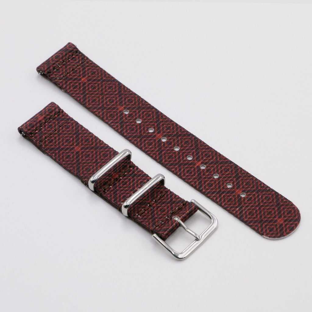 vario batik quad graphic nato watch strap for smartwatch