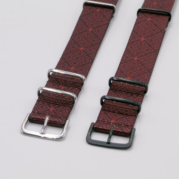 vario batik quad graphic nato watch strap