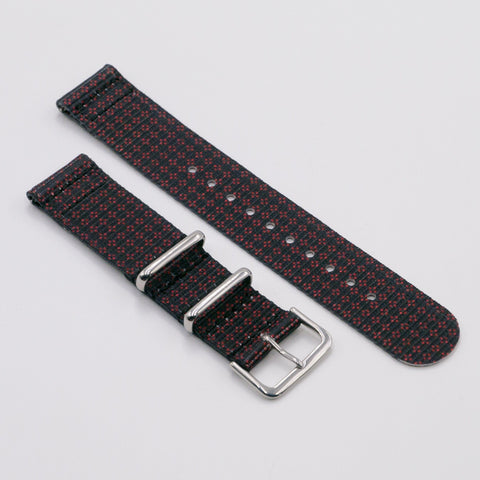 vario clover rouge graphic black nato strap for smart watch