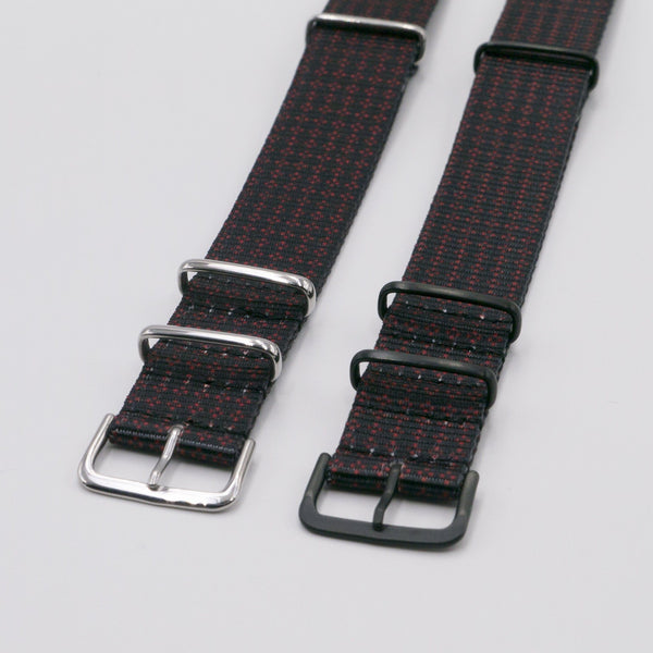 vario clover rouge graphic black nato band strap