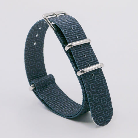 vario hex g graphic nato grey watch strap